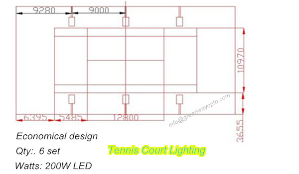 economical led tennis court lighting