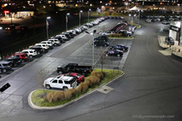 Parking lot lighting project
