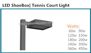 UL DLC LED Shoebox Tennis Court Light