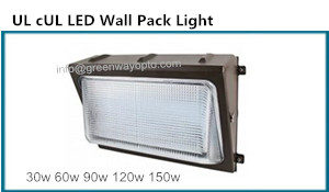 UL DLC LED Wallpack Light 30w 60w 90w 120w 150w